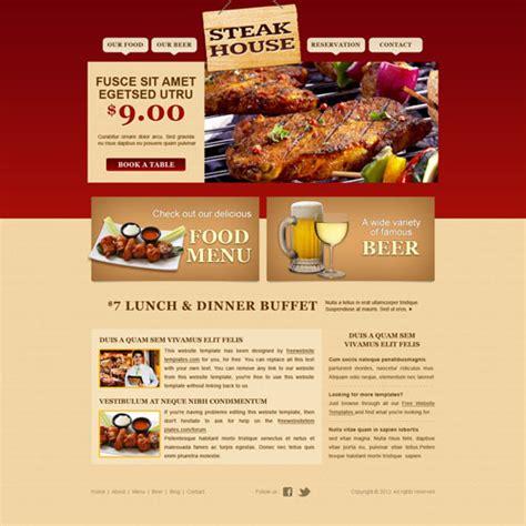 pizza shop website template steakhouse web template free website templates