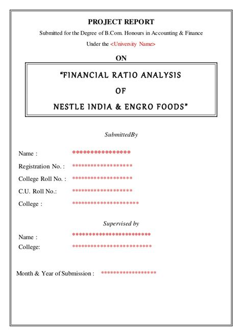 Mba Funding Corp by Financial Ratio Analysis