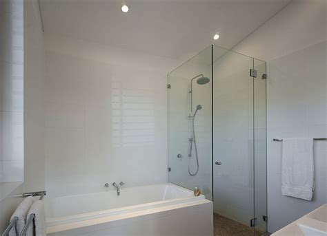 Bath Shower Combo Bathroom With Glass Shower And Bathtub Bathroom With And Shower