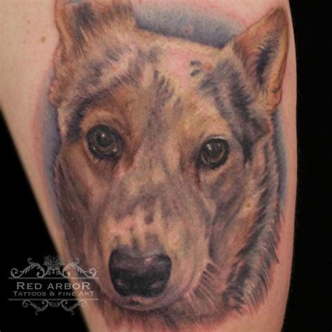 animal portrait tattoo color pet portrait by claussen tattoonow