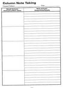Word Note Taking Template by Doc 700501 Notes Template Word Cornell Notes Template