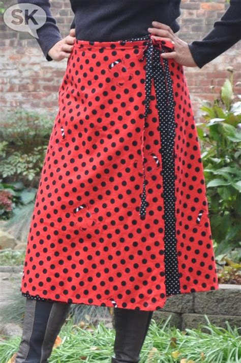 wrap skirt sewing pattern free patterns reversible wrap skirt tutorial