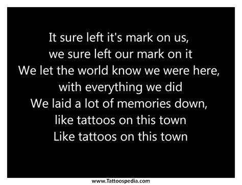 tattoos on this town lyrics tattoos on this town lyrics jason 1