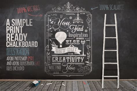 creativity will find you typography chalkboard print 2