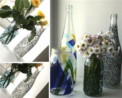 Diy Vase by Painted Bottle Vases Garden Therapy