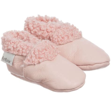 Prewalker Boot Pink 010280 Berkualitas bobux soft sole pink leather fur pre walker boots childrensalon