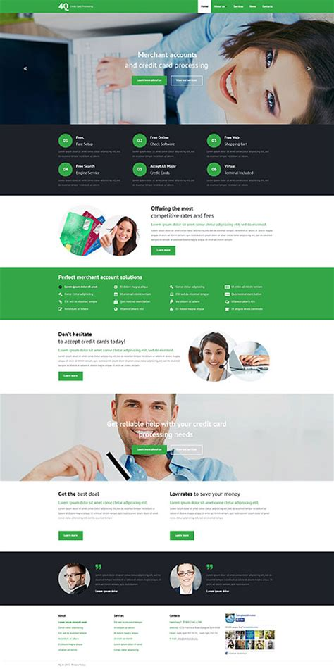 Credit Card Website Template Best Website Templates May 2015 Entheos