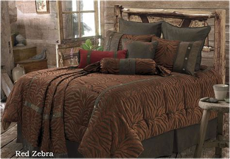 rwba9107 sk red zebra western 5 piece bedding set