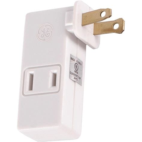 ge polarized 3 outlet adapter with space saving side