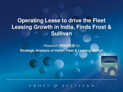 Frost & Sullivan   Analysis of India Fleet and Leasing