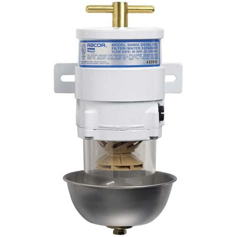 water separator for boat racor marine 500 turbine series fuel filter water