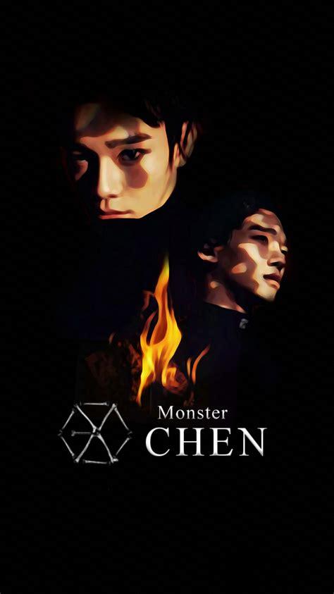 exo iphone wallpaper 2016 wallpaper exo 2016 monster teaser chen by