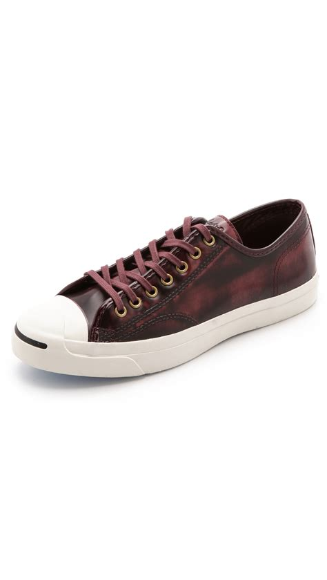 bin sneakers lyst converse purcell box leather sneakers in