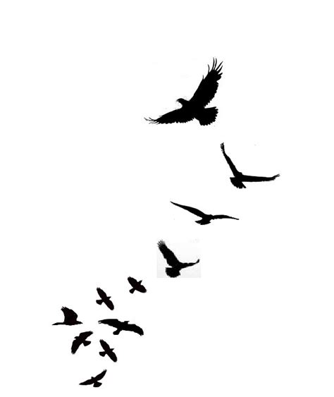 flock of birds tattoo designs flock of birds clipart best