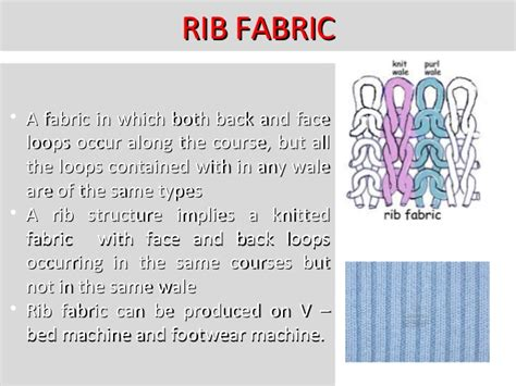 rib knit structure knitting technology