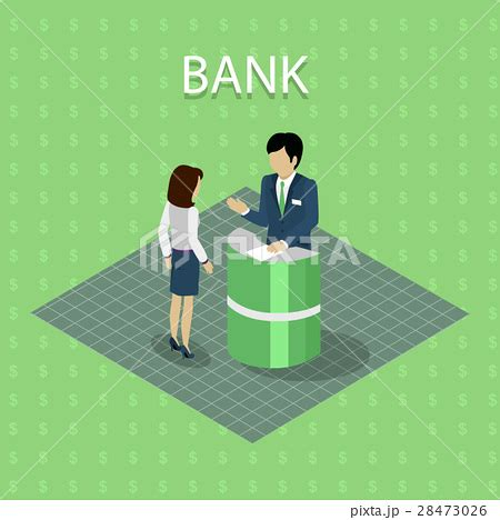 bank consulting bank interior with consultingのイラスト素材 28473026 pixta