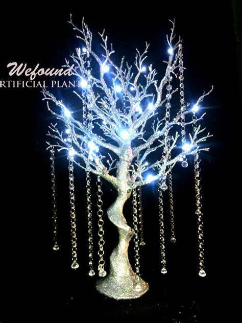 30 quot white led manzanita tree wedding table centerpiece