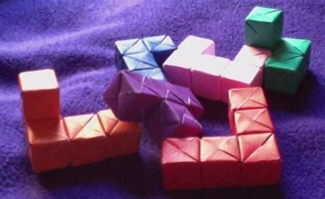 How To Make A Puzzle Out Of Paper - small soma cube 183 a puzzle 183 paper folding and origami on