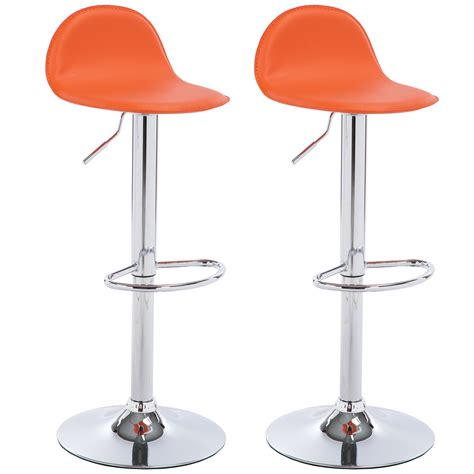 Adjustable Kitchen Breakfast Chrome Barstools Bar Stool | 2 x bar stools faux leather kitchen breakfast chrome