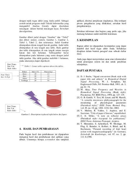 makalah rancangan format pendokumentasian format makalah analisa algoritma