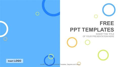 free templates for photos colored circles abstract ppt templates free