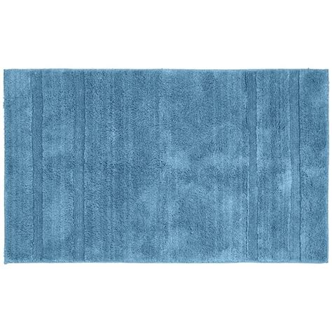 Garland Rug Majesty Cotton Sky Blue 30 In X 50 In Blue Bathroom Rugs