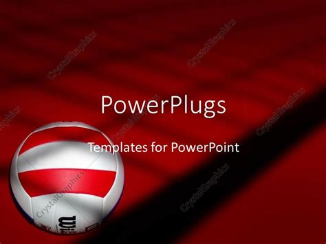 powerpoint themes volleyball powerpoint template volleyball on red and black