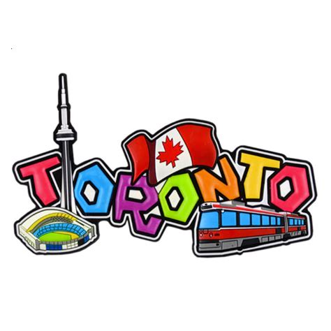 rubber st toronto canada souvenirs gifts toronto rubber script magnet