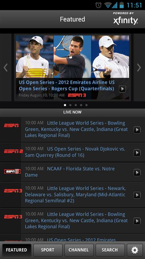 espn app for android watchespn app on android finally adds comcast support