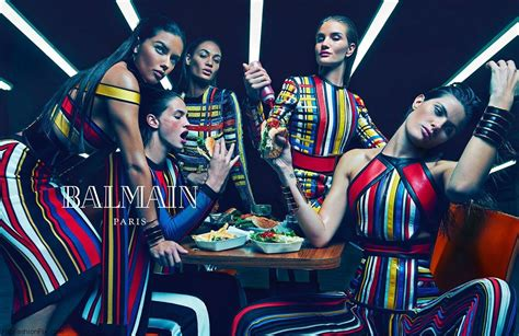 Fab Ad Hm Fall 2007 by Balmain 2015 Caign Brings Quot Balmain Army Quot Made Of