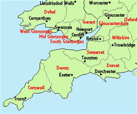 map of south west county map of south west south wales