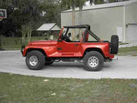 1991 Jeep Wrangler Renegade Purchase Used 1991 Jeep Wrangler Yj Renegade In Orange