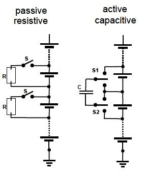 switched capacitor cell balancing figure 5 passive cell balancing left switches high cells to a discharge resistor active cell