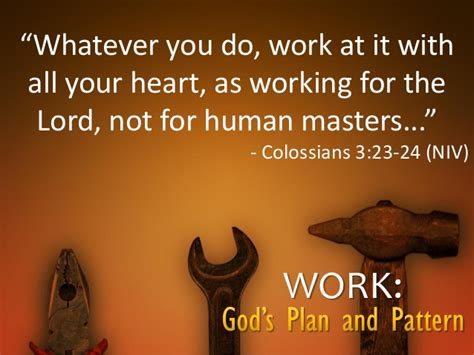 Working For Is Like Not Working At All by Work God S Plan And Pattern Sermon 8 30 15