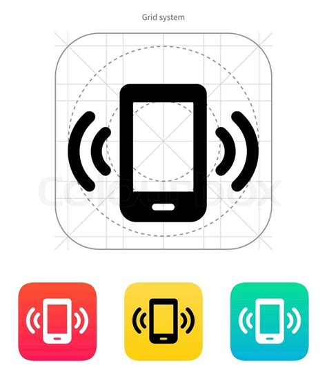 Bell Mobility Cell Phone Number Lookup Mobile Phone Bell Icon Vector Illustration Stock