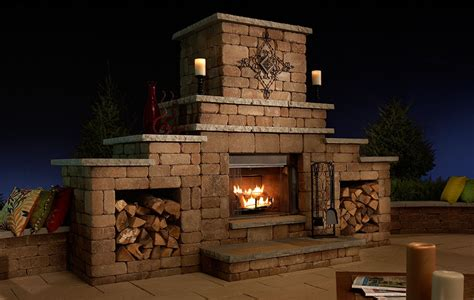grand fireplace necessories kits for outdoor living