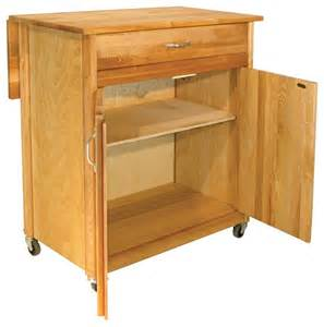 Kitchen Island With Drop Leaf 2 door cart with drop leaf contemporary kitchen
