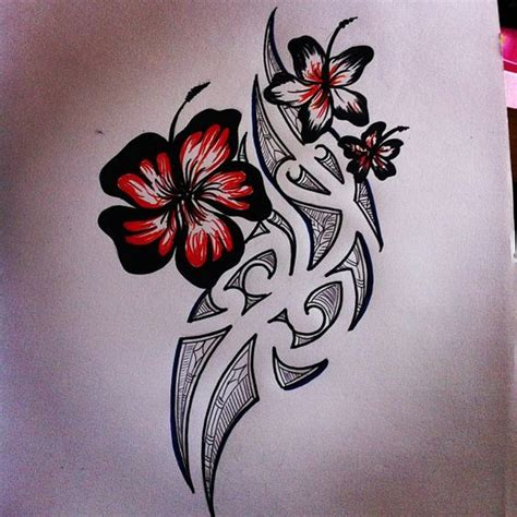 surf flower tattoo designs awesome girlfriends and polynesian designs on