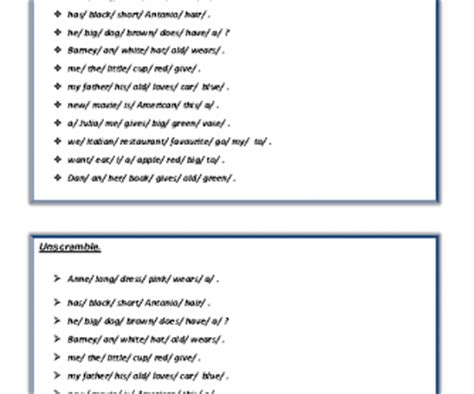 Order Of Adjectives Worksheet Pdf by Order Of The Adjectives Pdf
