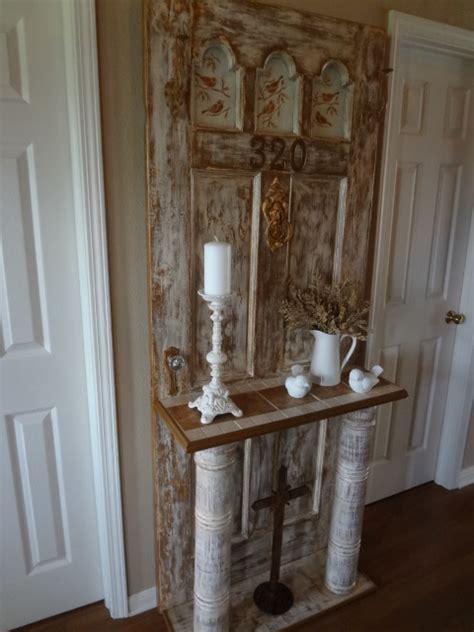 hometalk vintage door turned  hall tree