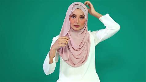 tutorial hijab naelofar stylewithhe naelofar annabelle hijab tutorial youtube