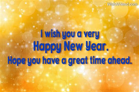 i wish you a very happy new year wish