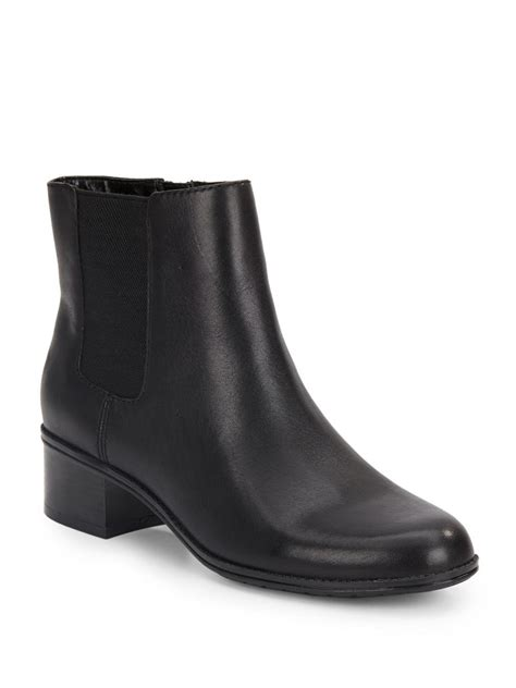 bandolino closter leather booties  black lyst