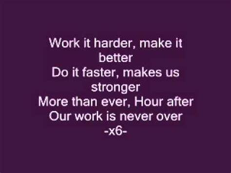 harder better faster stronger lyrics harder better faster stronger lyrics