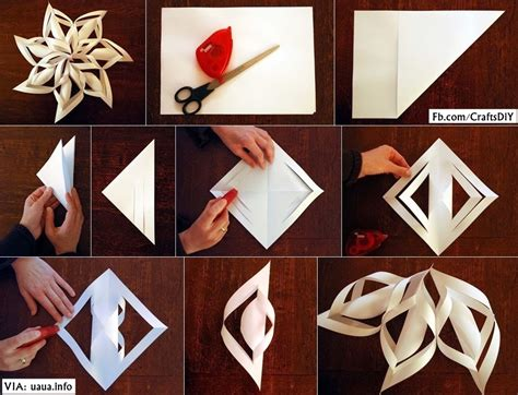 Snowflakes From Paper - diy paper snowflake diy craft projects