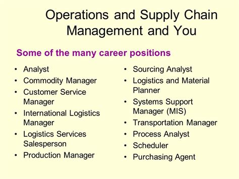 Operation And Supply Management operations and supply management free