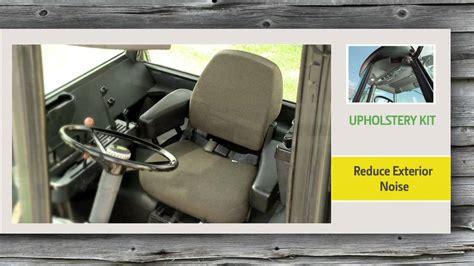 tractor interior upholstery john deere upholstery kit video youtube