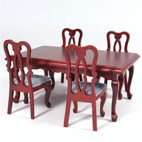 one ahead table and accessories dolls house rectangle dining table 4 chairs df102