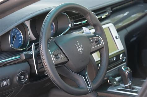 maserati steering wheel driving maserati quattroporte review 2018 autocar