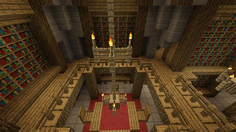 library in the castle minecraft by nosh0r on deviantart